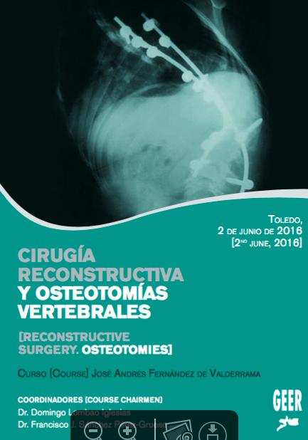 Cartel del curso de Cirugía Reconstructiva y OsteotomÍas Vertebrales