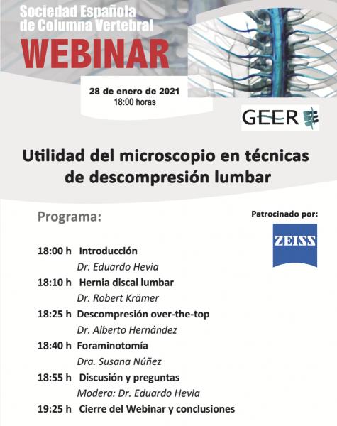 Webinar Microscopio Dr. Alberto Hernandez Especialista de Columna Vertebral